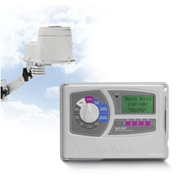 how to turn on rainbird sprinkler system manually