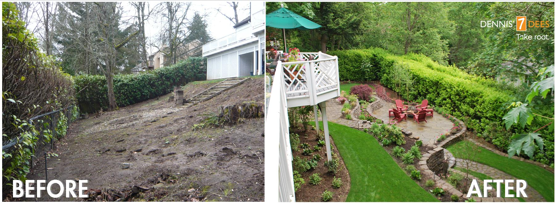 Featured landscape projects take root with dennis 39 7 dees for Garden design ideas before and after