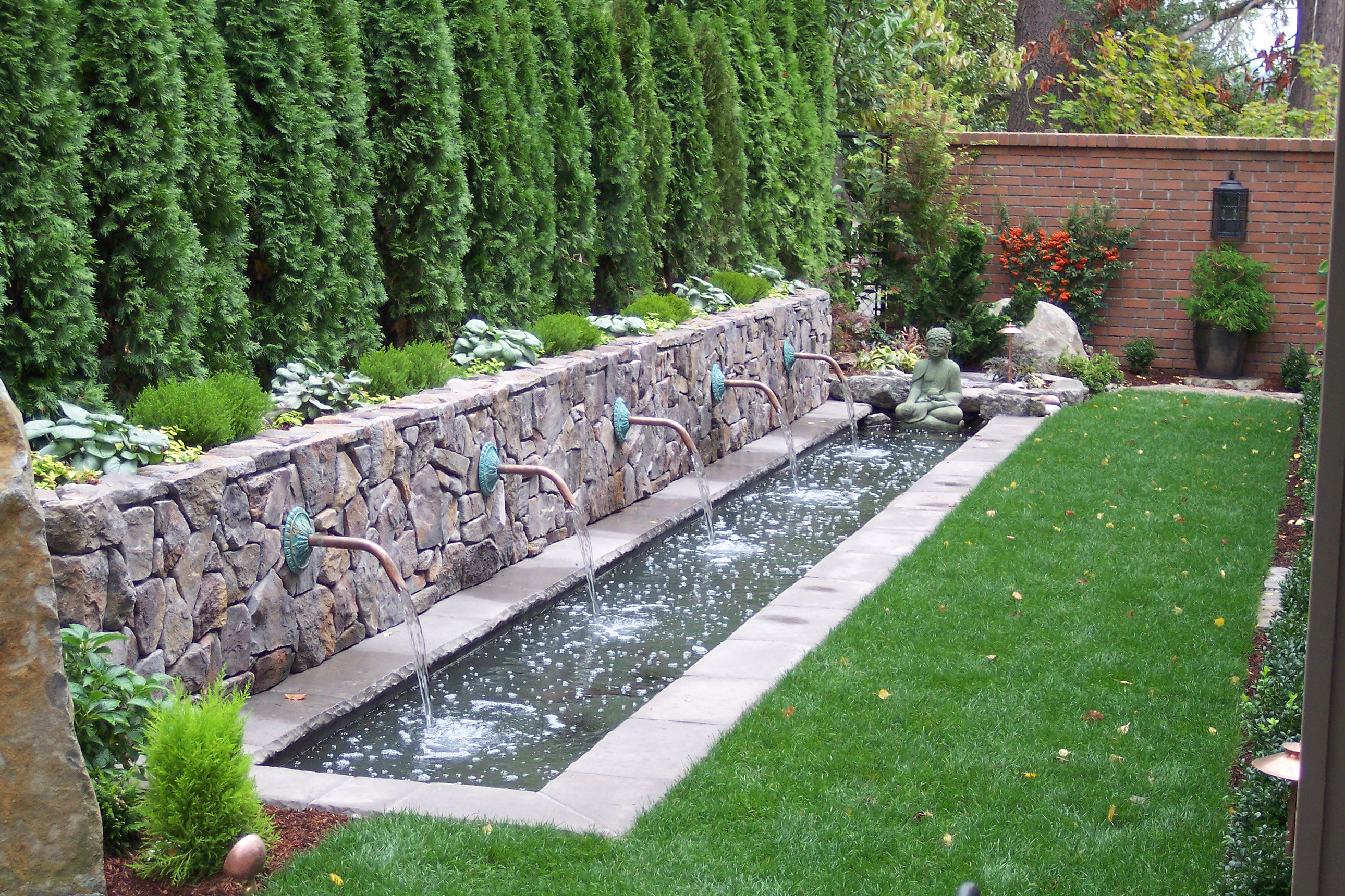 Water architecture on pinterest water fountains water for Garden fountains and water features